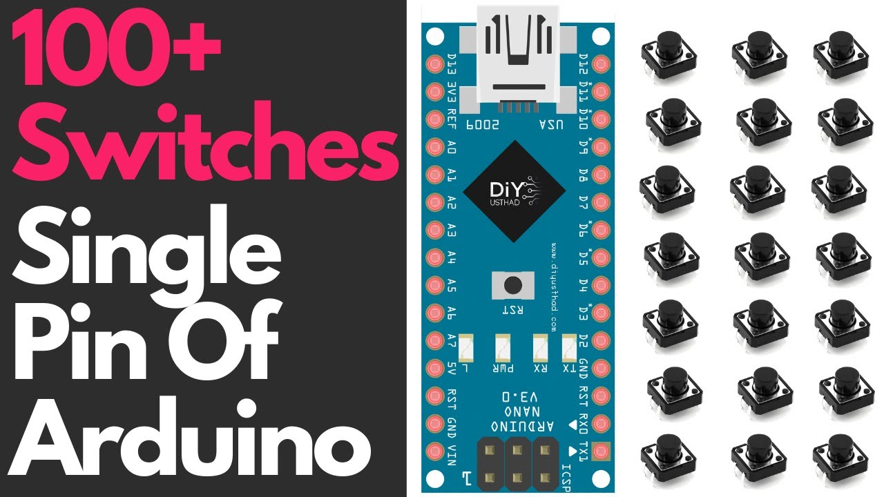 100+ Switches in a Single Pin of Arduino: 6 Steps (with