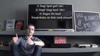 Немецкие слова: Gib, Komm! Imperativ! Повелительное наклонение, немецкий для начинающих, урок 12