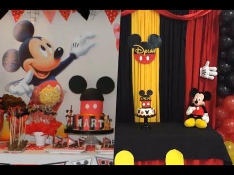 Ideas de decoración Mickey Mouse para cumpleaños de 2 años