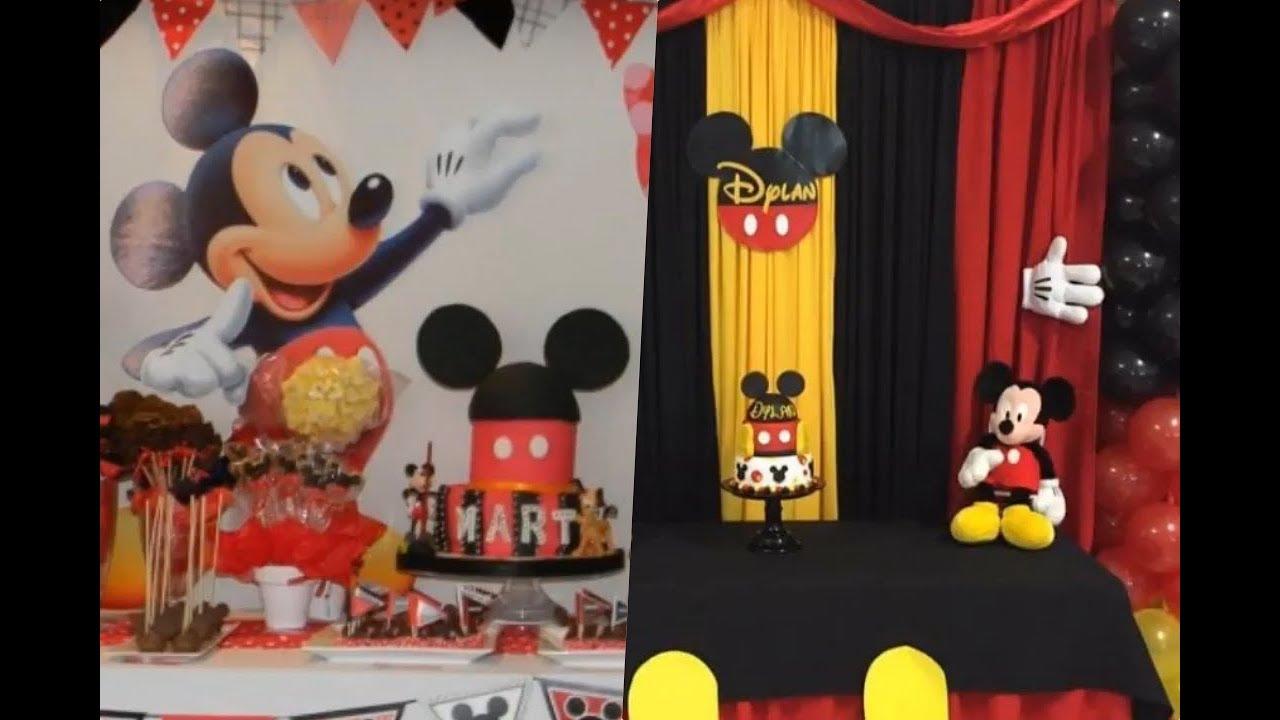 Ideas De Decoración Mickey Mouse Para Cumpleaños De 2 Años Youtube