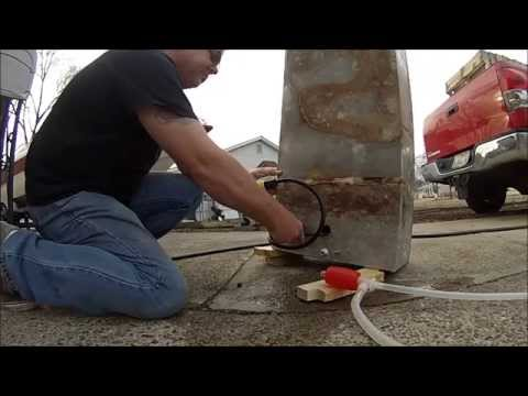 Boat Restoration Part 2 Gas Tank Cleaning