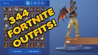 This is What A Fortnite Locker Looks Like With 344 Skins LOL