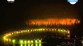 Dubai fireworks 2014 New Year Palm Jumeirah Island