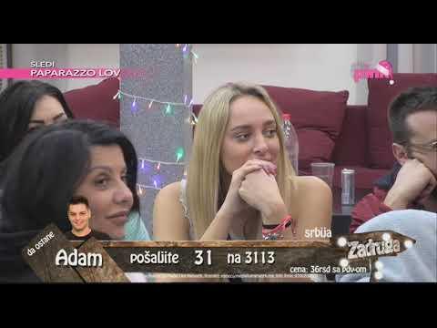 Zadruga 2 - Sanja ušla u Zadrugu i nije se pozdravila sa Lunom - 02.01.2019.