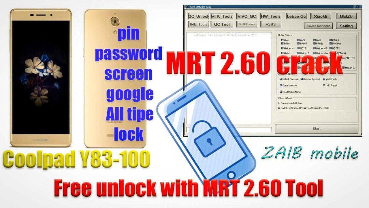 coolpad y83-100 frp google lock remove unlock with MRT crack 2 60