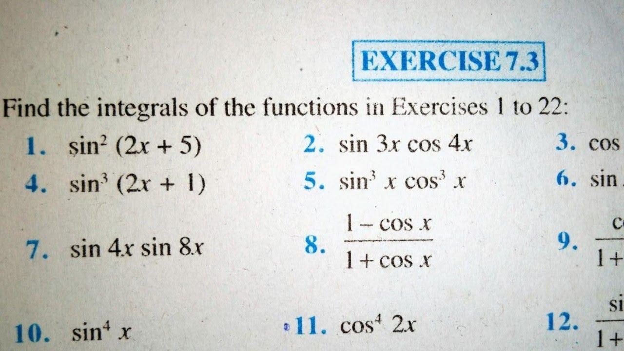 12 th (NCERT) Mathematics-INTEGRATION (CALCULUS) EXERCISE-7 3  (Solution)|Pathshala (Hindi)