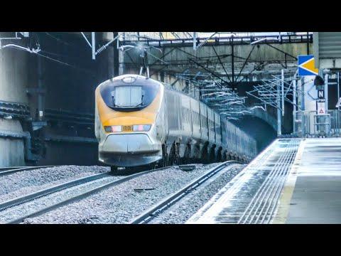 Trains At Stratford International - Storm Erik, HS1 | 10/02/19