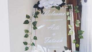 Diy  Engagement Welcome Sign | Dekorasi Lamaran Buat Sendiri Low Budget | Wedding Welcome Sign