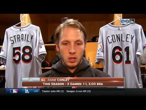 Adam Conley -- Miami Marlins at San Diego Padres 04/21/2017