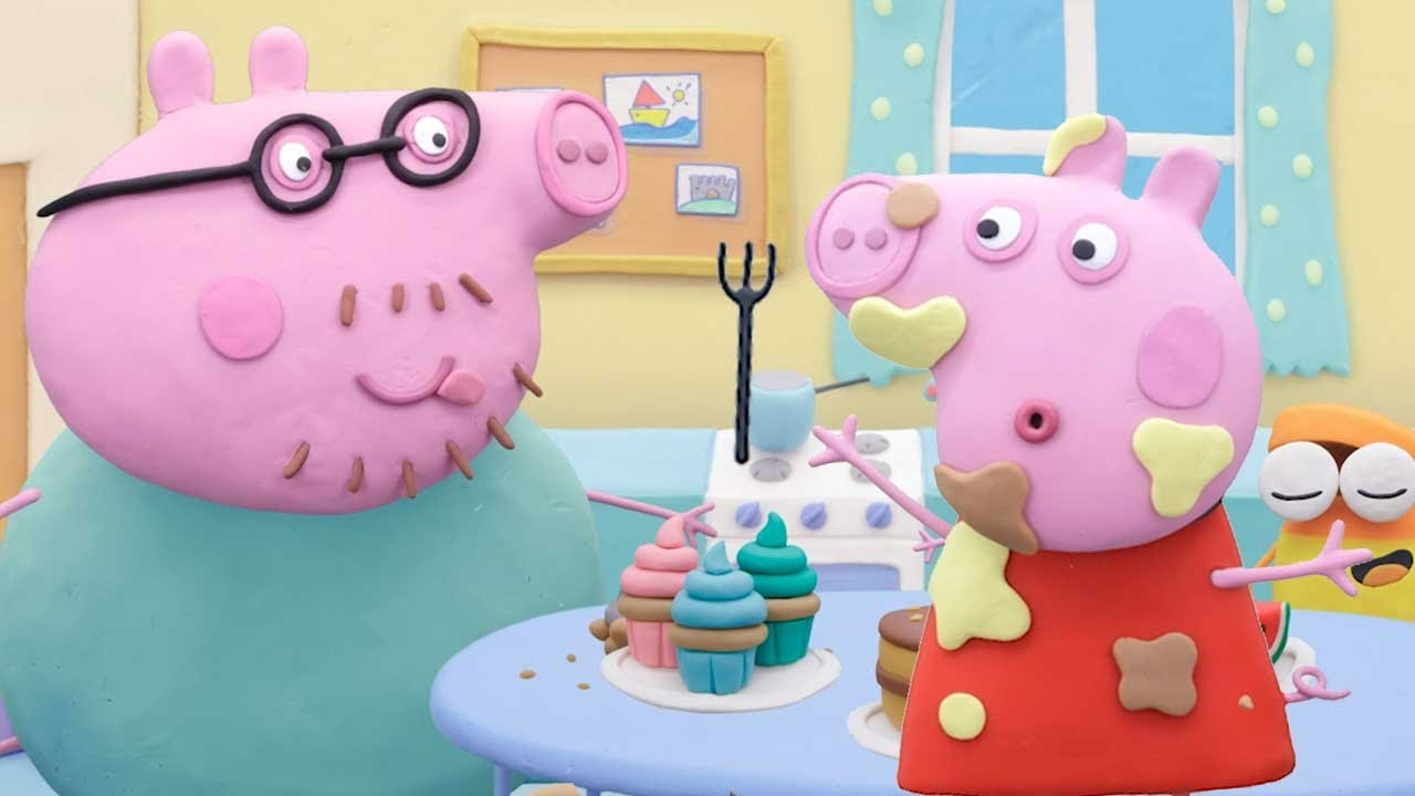 Peppa Pig Official Channel | Peppa Pig 's Cake Prank | Play-Doh Show Stop Motion
