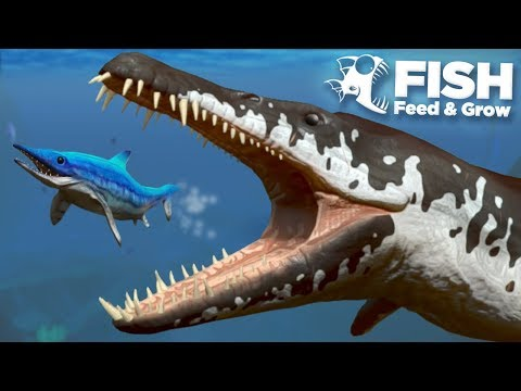 NEW KRONOSAUR EATS THE MOSASAUR!!! - Fish Feed Grow