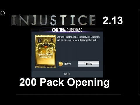 Injustice Mobile: Opening 200 Apokolips Darkseid Challenge Packs