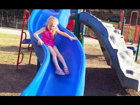 Thumbnail: Playing at the Park on the Playground for Kids & Children W/ Slides, Swings, Climbing and Dinosaurs