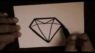 How to draw a cute diamond.