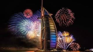 Burj al arab fireworks 2017