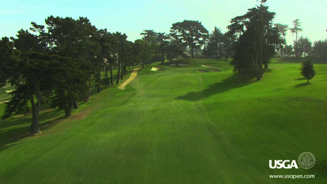aerial view of hole 2 at the olympic club youtube