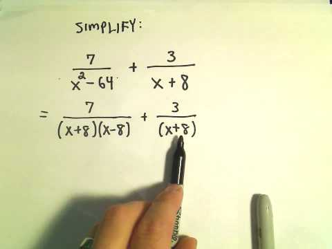 Rational Expressions:  Adding and Subtracting.  Ex 1