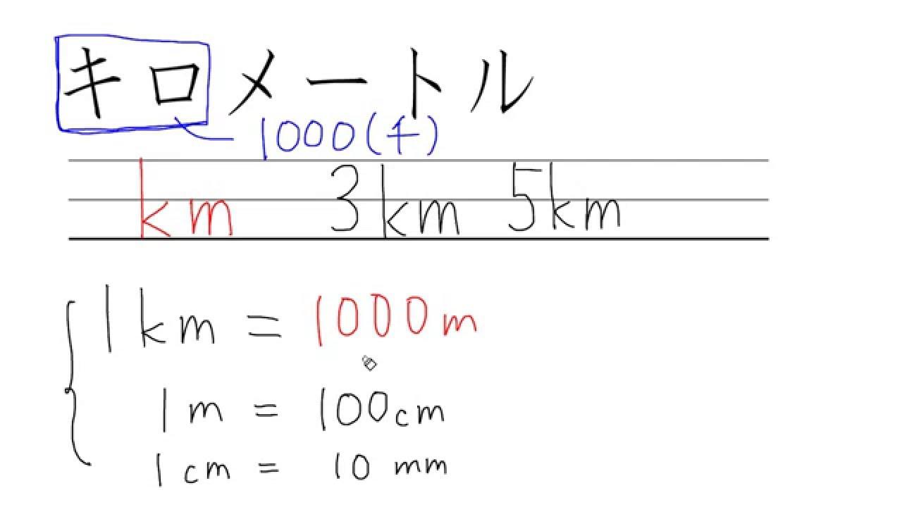 長さをあらわす:km(キロメートル) - YouTube
