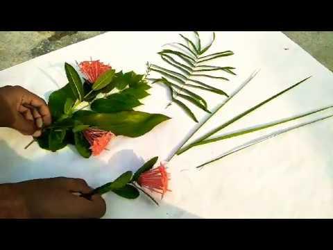how to make simple buke home garden flower buke youtube