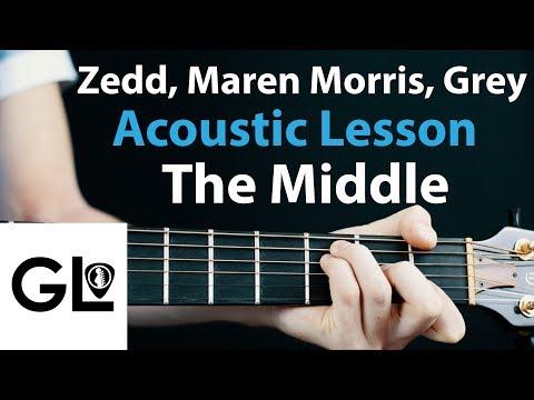 The Middle - Zedd, Maren Morris: Acoustic Guitar Legend Lesson