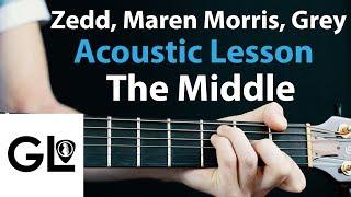 The Middle - Zedd, Maren Morris: Acoustic Guitar Lesson  🎸