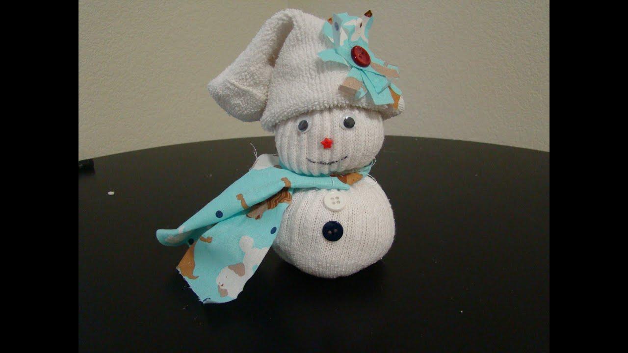 Resultado de imagen de muñeco de nieve con calcetin las manualidades