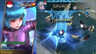 Aurora Special KoF Skin Kula Diamond Gameplay (Epic Frozen) - Mobile Legends