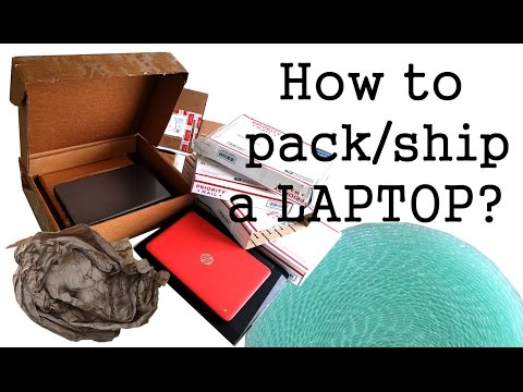 How to pack a laptop for shipping?