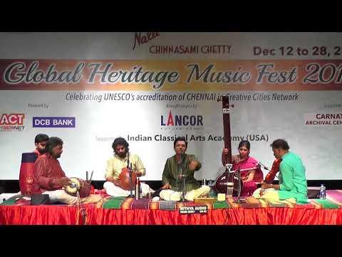 S.Saketharaman L Carnatic Vocal  L Global Heritage Music Fest 2017 L Web Streaming
