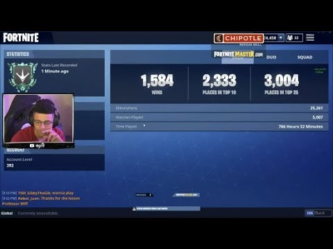 TSM Myth Shows His Fortnite Career Stats! (Fortnite Battle Royale)