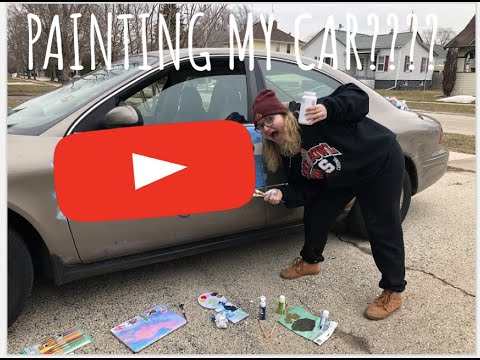 FOLLOWING A BOB ROSS TUTORIAL…..ON MY CAR