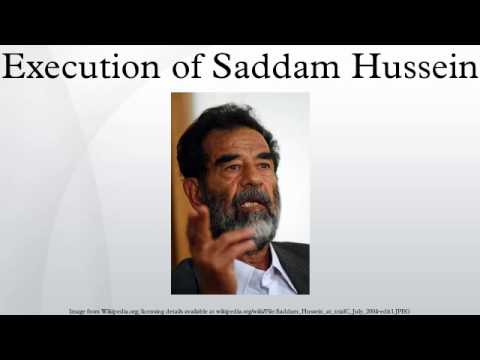 Execution of Saddam Hussein