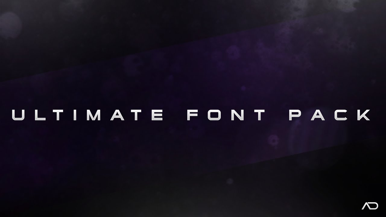 Download Ultimate Font Pack - FREE - YouTube