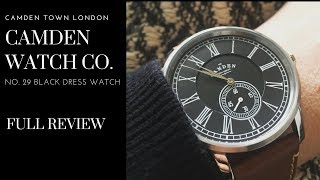 "Camden Watch Co. ""No. 29 Black"" - A Vintage Inspired No Fuss Dress Watch"