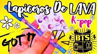 DIY KPOP: LAPICEROS - BOLIGRAFOS DE LAVA ♡GOT7 BTS♡ Manualikpop