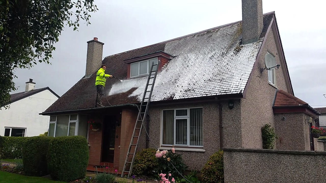 Roof Moss Removal Soft Wash Uk Roof Cleaning Youtube