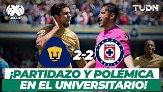¿Robo a la máquina? Pumas salva el empate con un penal polémico | Pumas vs Cruz Azul - CL2016 | TUDN