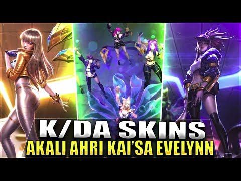 NEW AKALI, AHRI, KAI'SA, EVELYNN K/DA/POPSTAR Skins Gameplay Leaked - League of Legends