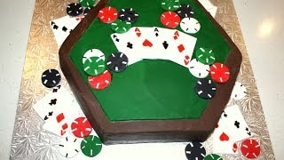 Poker Table Cake Decorating Tutorial