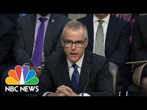 Andrew McCabe The Latest Ousted By Donald Trump's White House | NBC News