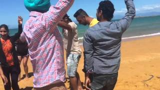 PUNJABI... Christmas celebrations on a beach in Nelson, Newzealand with boliyaan...