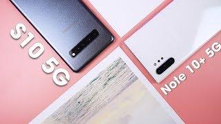 So sánh chi tiết Note 10+ 5G và S10 5G