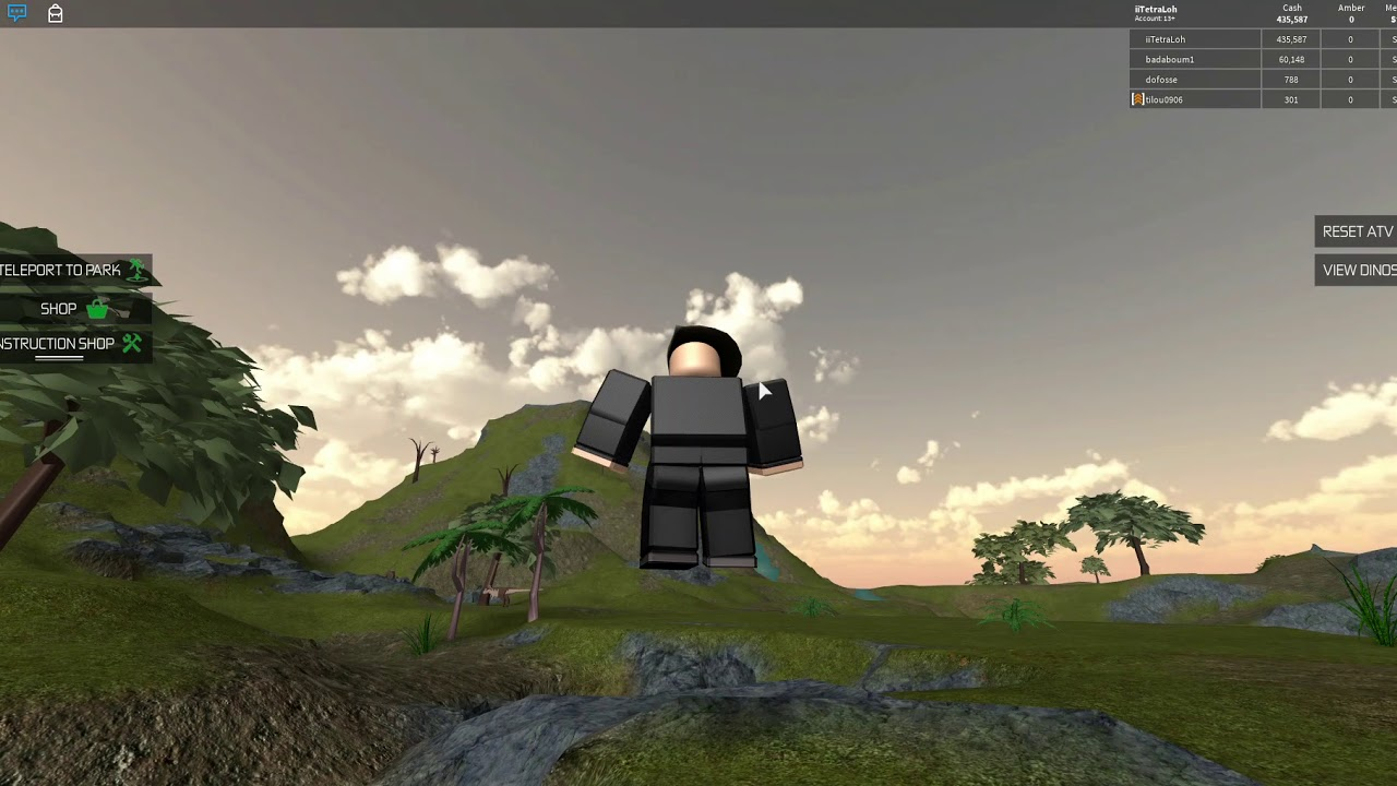 Roblox Jurassic Tycoon Finding Ambers Youtube