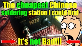 The cheapest chinese soldering station   Zeny 937D