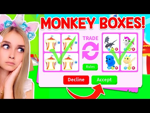 TRADING *ROBUX MONKEY BOXES* ONLY In Adopt Me! (Roblox)