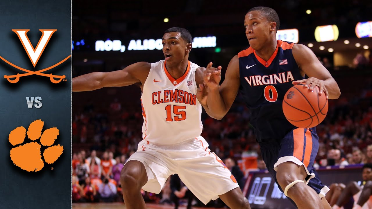 Image result for Clemson vs Virginia Basketball