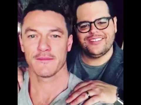 Luke Evans sings 'A Whole New World' with Josh Gad #BeautyAndTheBeast