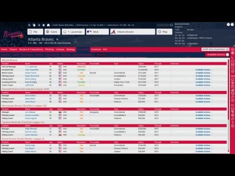 Braves Franchise - Title By 2020: Part 1 (4/6/2016 Stream)