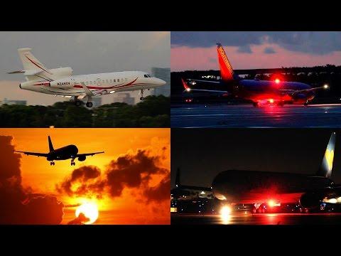 {TrueSound}™ Ft. Lauderdale 25 Minutes MEGA Plane-Spotting Evening/Sunset/Night 7/18/14