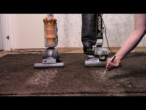 Rubber Backed Rug: Kirby G6 vs Dyson DC40 MKII